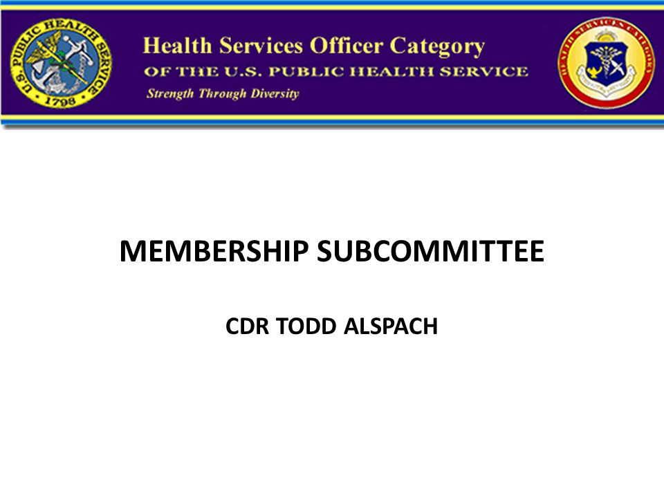 RECRUITMENT AND RETENTION SUBCOMMITTEE LCDR TRACY BRANCH