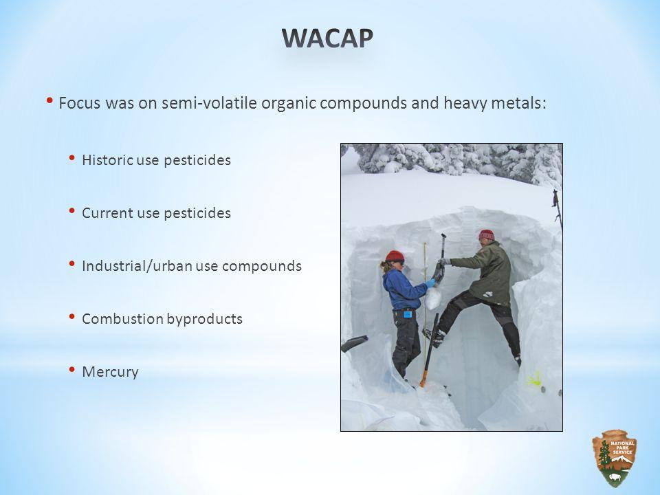 Airborne contaminants were found in all WACAP parks.