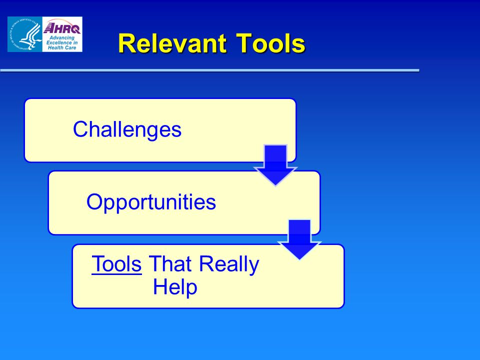 ChallengesOpportunities Tools That Really Help Relevant Tools Relevant Tools