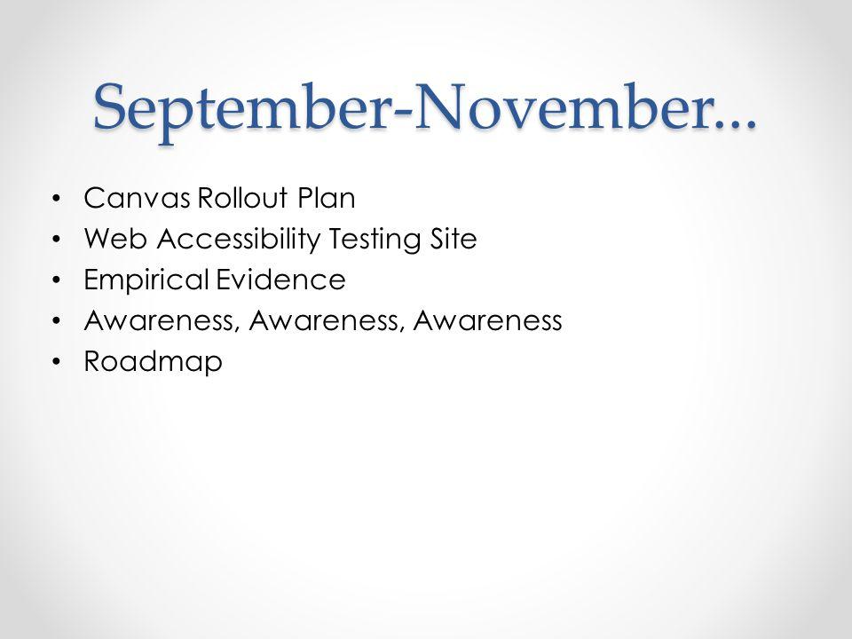 September-November...