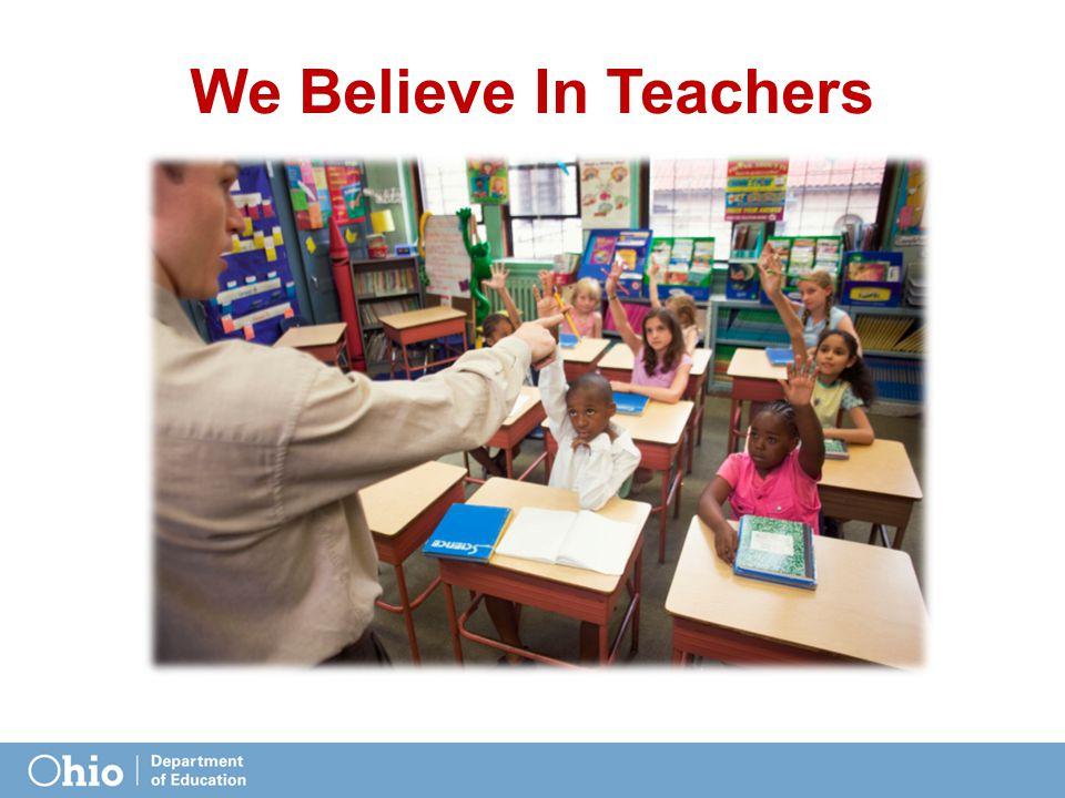We Believe In Teachers