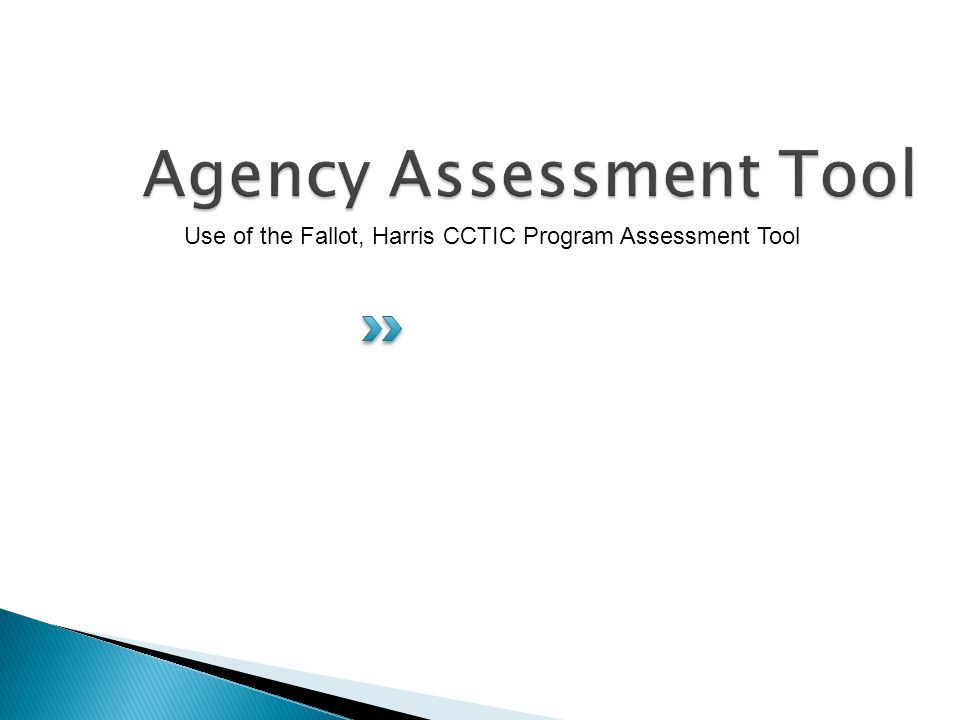 Use of the Fallot, Harris CCTIC Program Assessment Tool