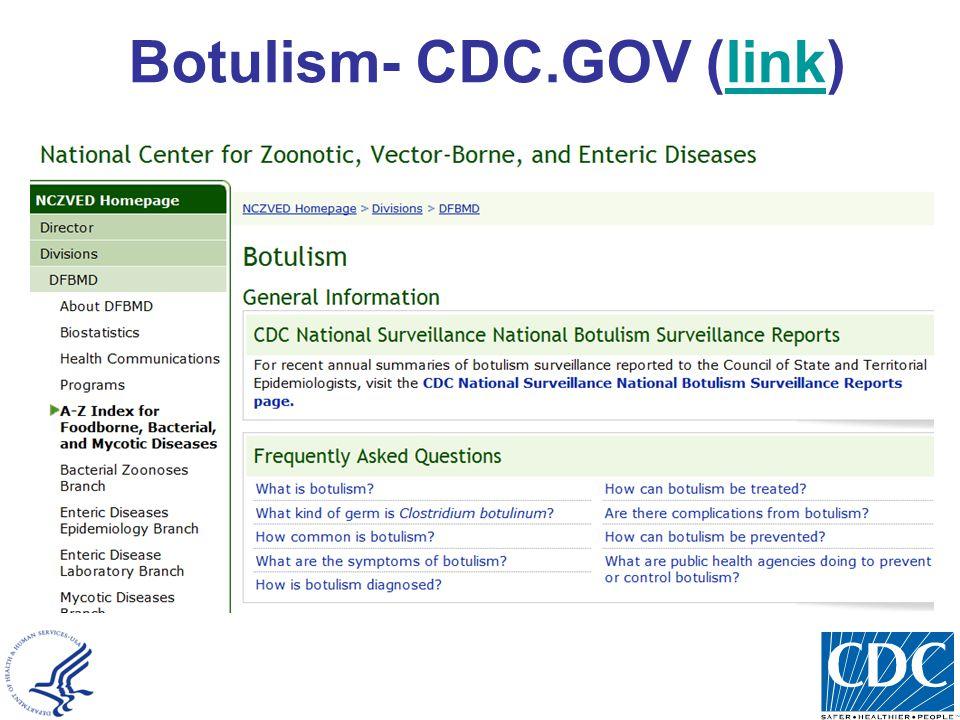 Botulism- CDC.GOV (link)link