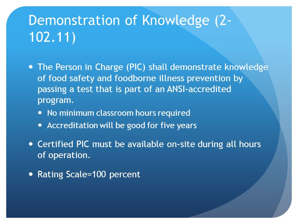 Cold Holding of Potentially Hazardous Foods (3-501.16) Cold holding requirement of TCS foods 45ºF to 41ºF Provisions are in place in the rules to allow for 45ºF or less in existing refrigeration in existing facilities to allow for upgrade or replacement by January 1, 2016
