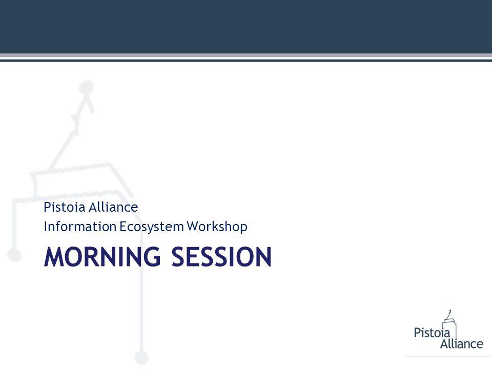 MORNING SESSION Pistoia Alliance Information Ecosystem Workshop