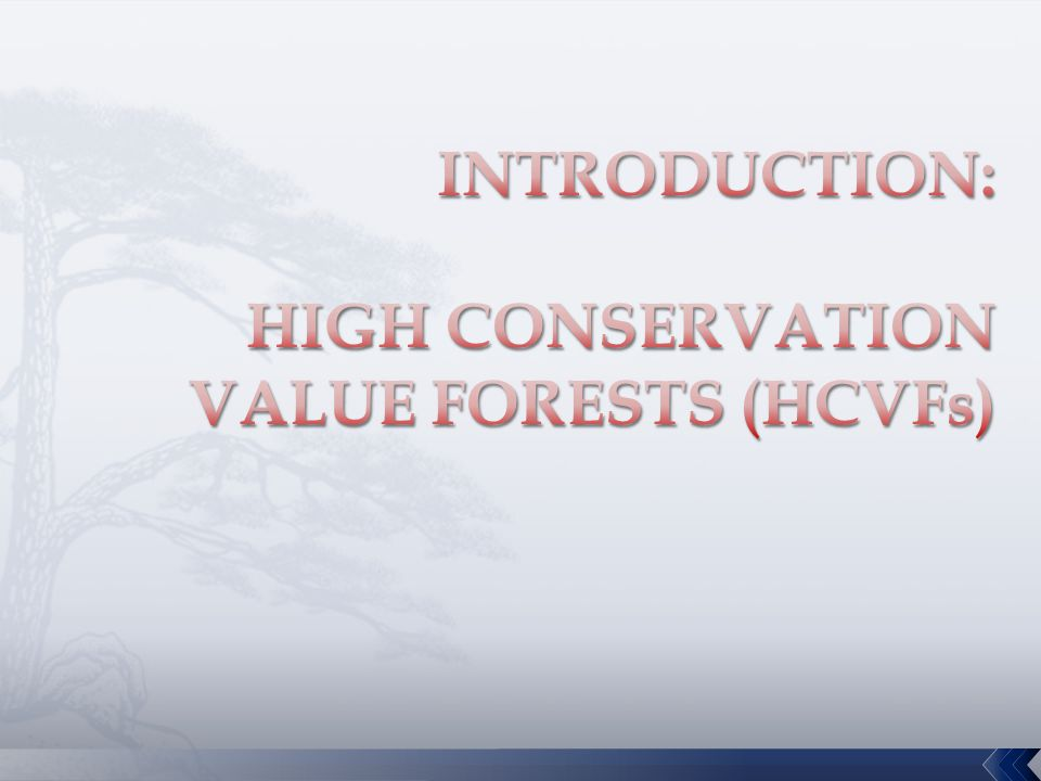 MANAGEMENT IMPLICATION:  Maintain or enhance the High Conservation Values (HCVs)  Multiple-use areas & working forests  Will require balanced landscape-based management decisions.