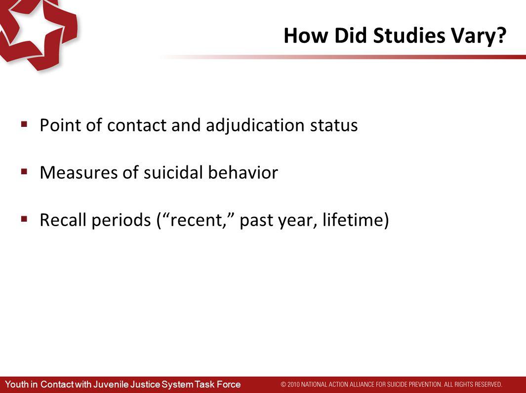 How Did Studies Vary.