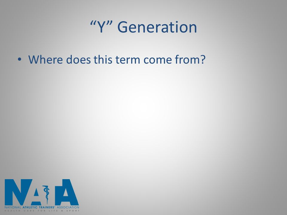 Y Generation Where does this term come from