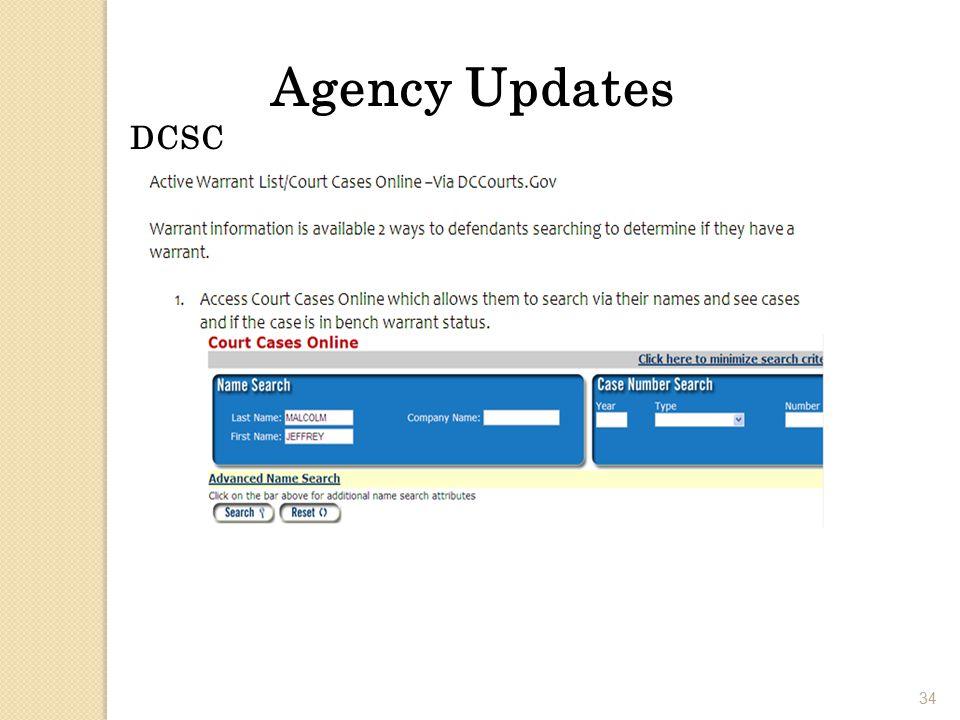 34 Agency Updates DCSC