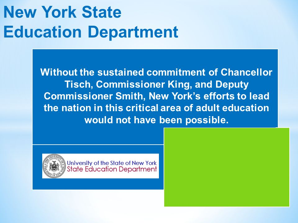 * NYS has a new, subsidized test leading to a NYS High School Equivalency Diploma for January 2, 2014.