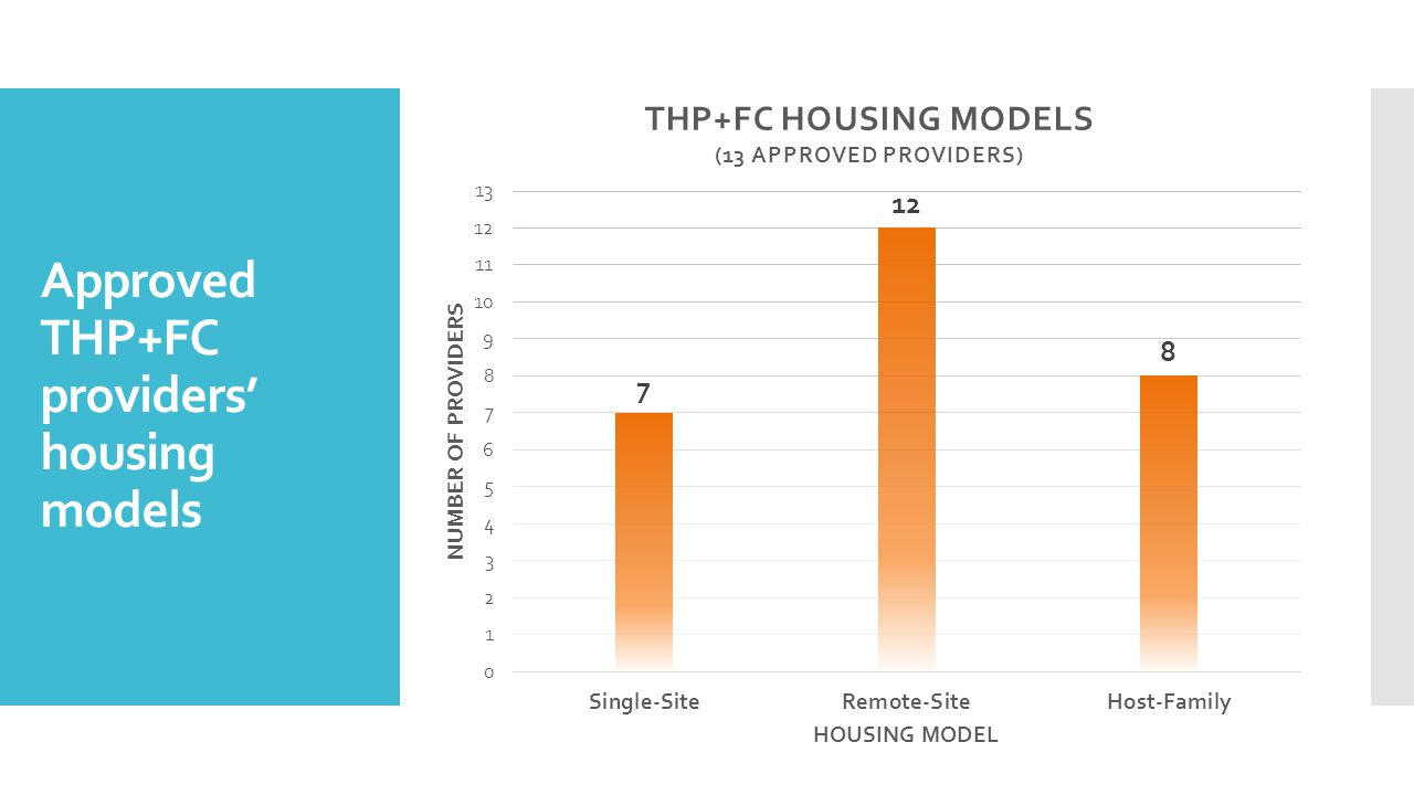 Approved THP+FC providers' housing models