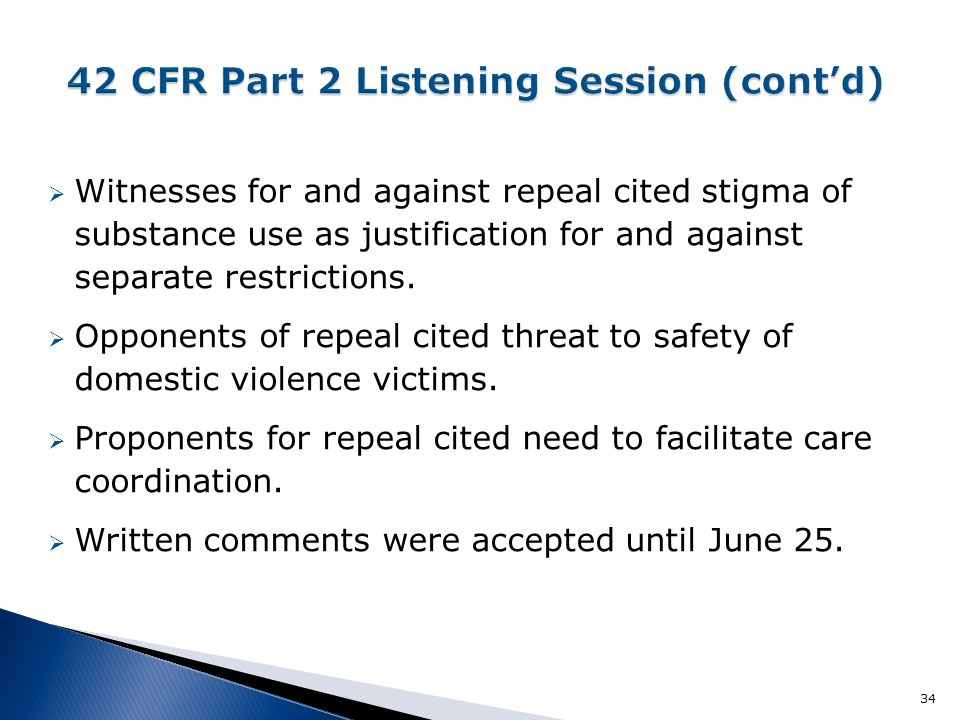  Witnesses for and against repeal cited stigma of substance use as justification for and against separate restrictions.