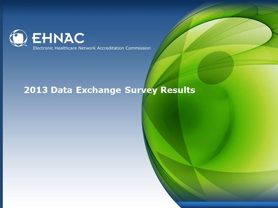 2013 Data Exchange Survey Results