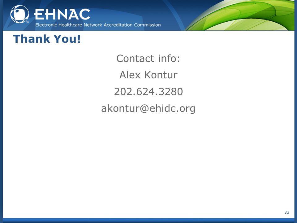 Thank You! Contact info: Alex Kontur 202.624.3280 akontur@ehidc.org 33