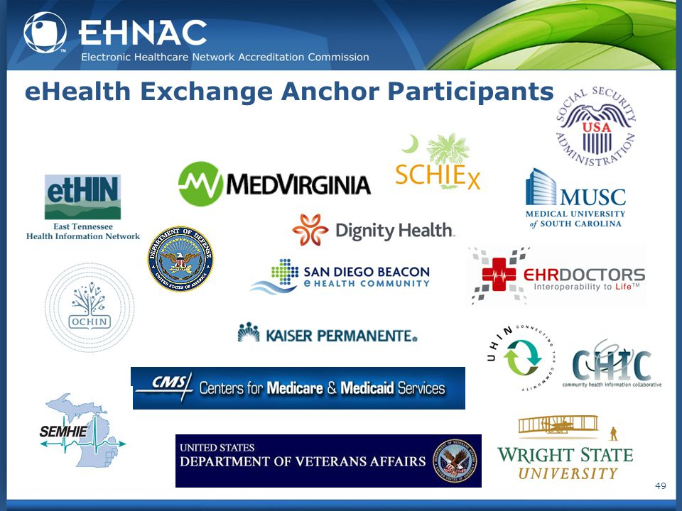 eHealth Exchange Anchor Participants 49