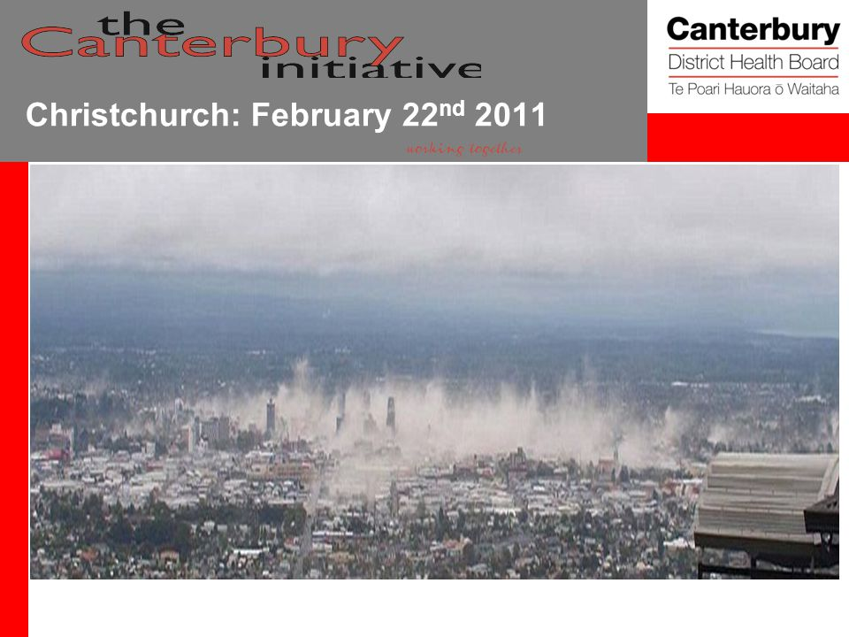 Christchurch: February 22 nd 2011