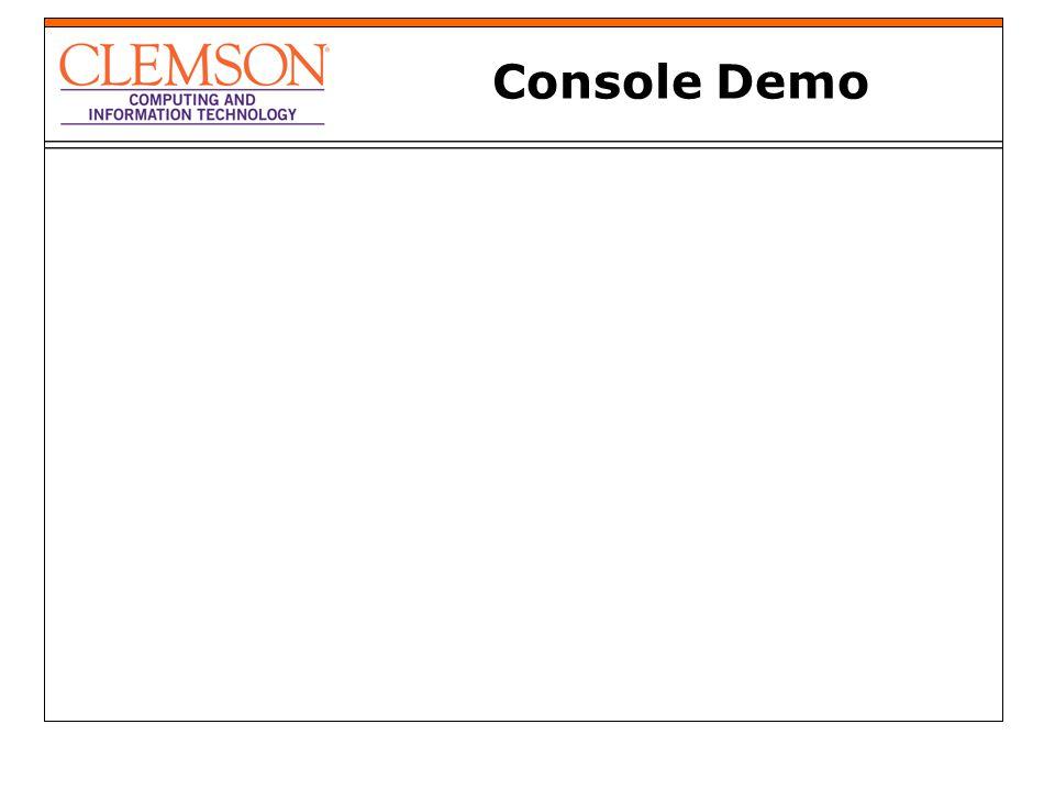 Console Demo