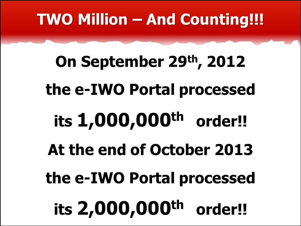 TWO Million – And Counting!!.