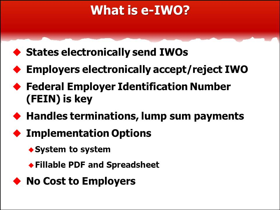 What is e-IWO.