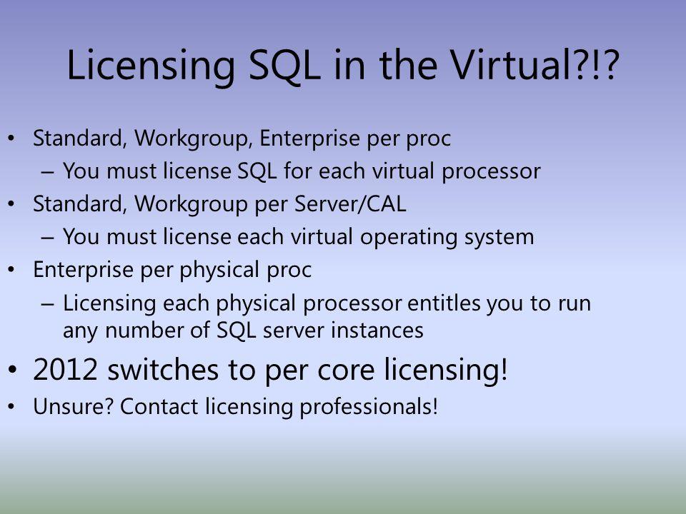 Licensing SQL in the Virtual?!.