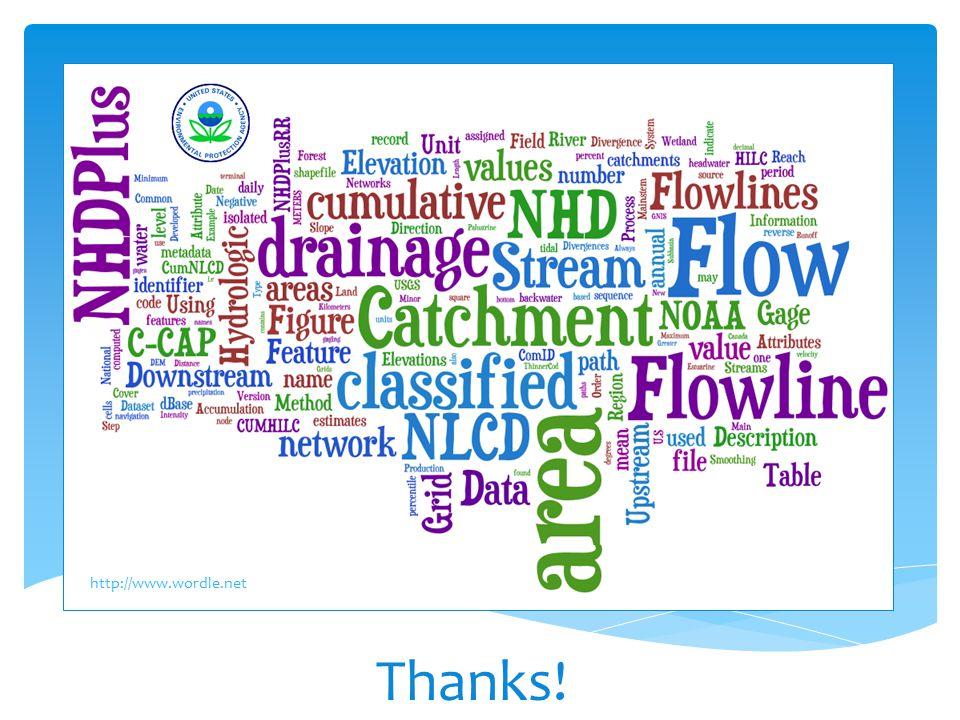 Thanks! EPA GIS Workgroup Meeting Arlington, VA - May 7, 2009 http://www.wordle.net
