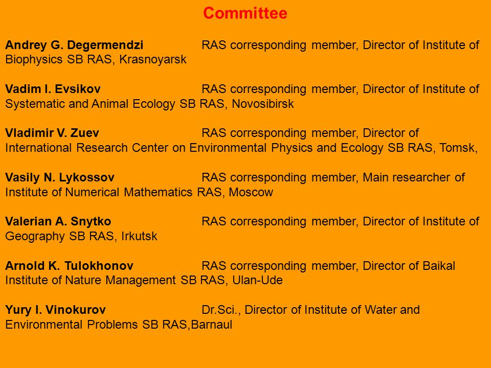 Committee Andrey G.