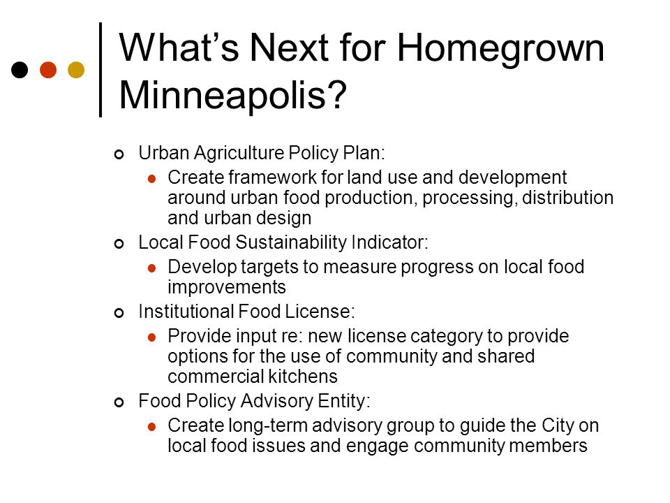 What's Next for Homegrown Minneapolis.