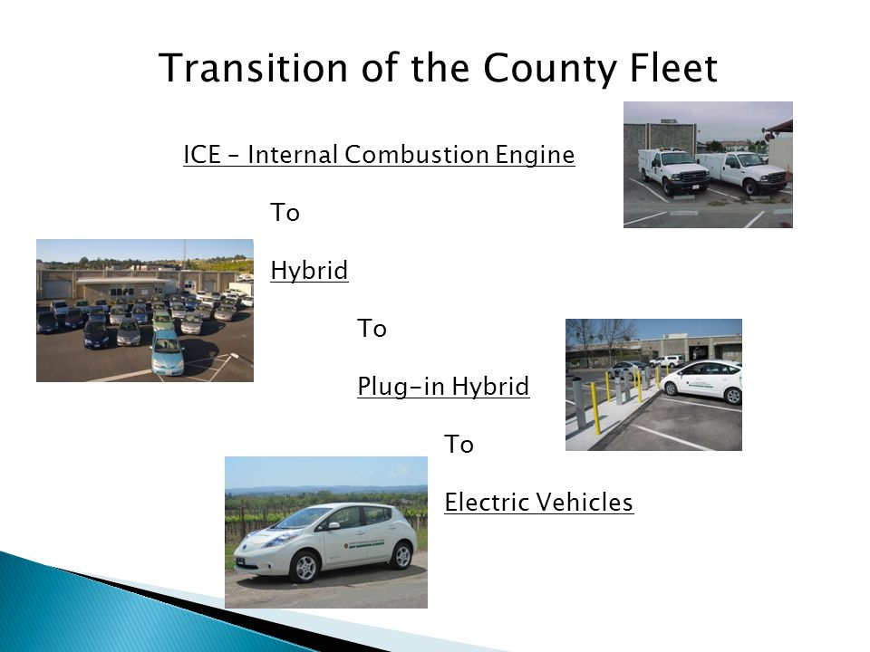 Next Steps Continue to assimilate electric vehicles into local public fleets Promote the adoption of EV charger installation guidelines by all local jurisdictions.
