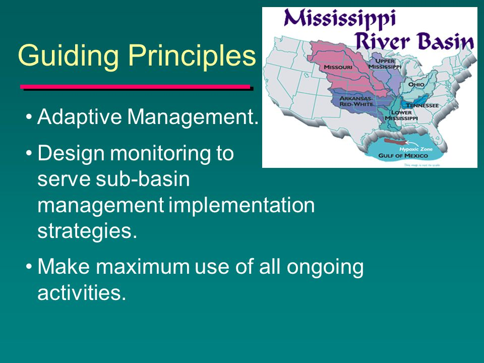 Guiding Principles Adaptive Management.