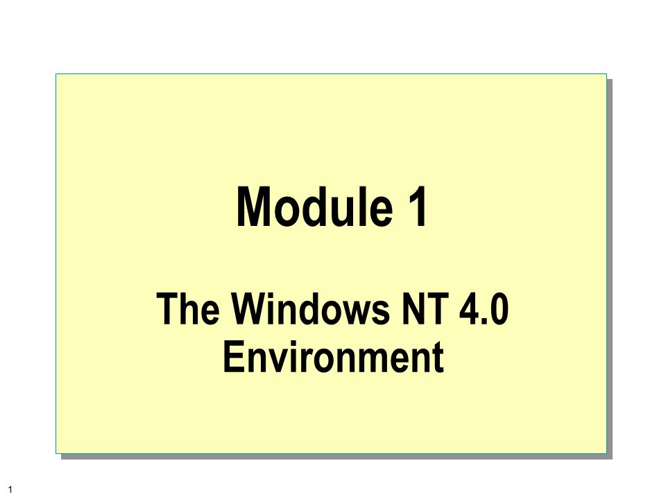 2  Overview The Microsoft Operating System Family Windows NT Architecture Overview Workgroups and Domains