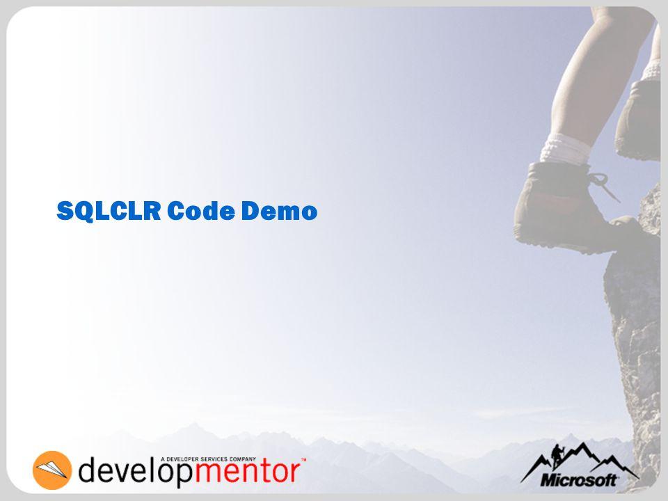 SQLCLR Code Demo