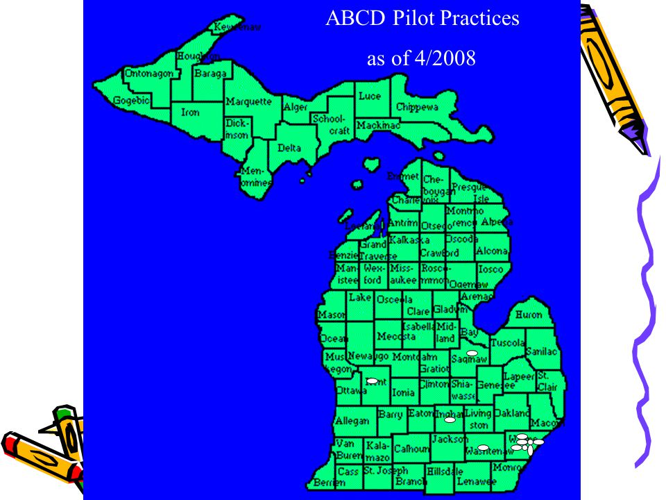 ABCD Pilot Practices as of 4/2008