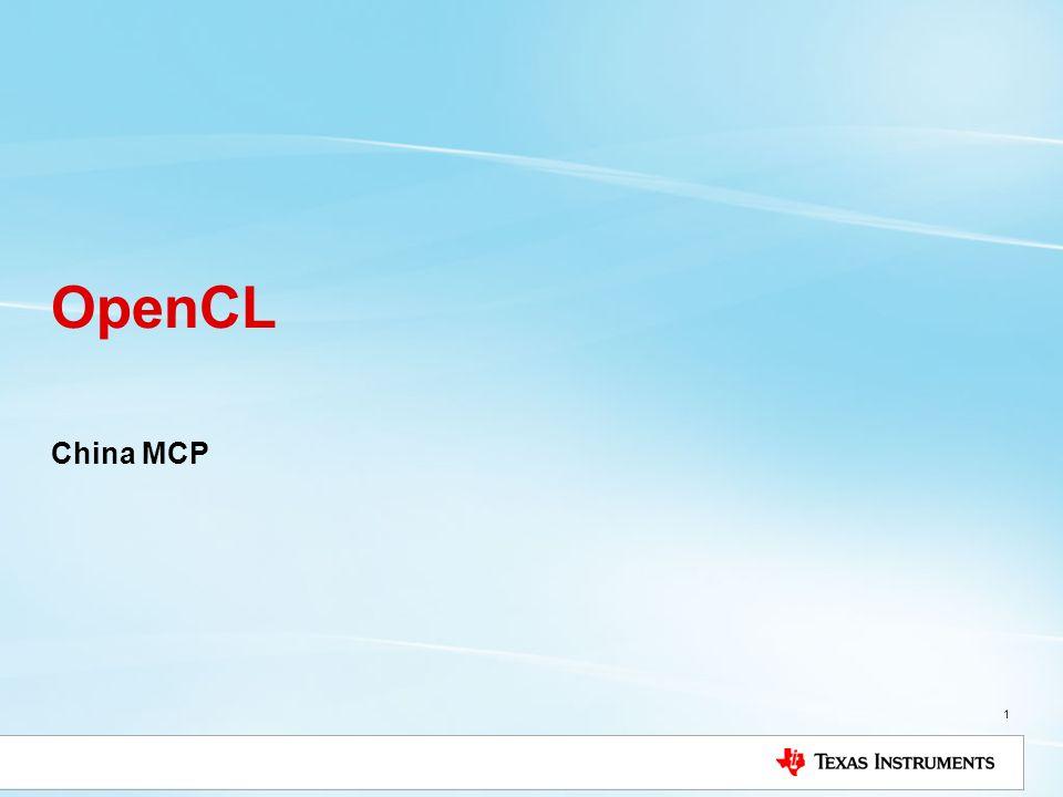 China MCP 1 OpenCL