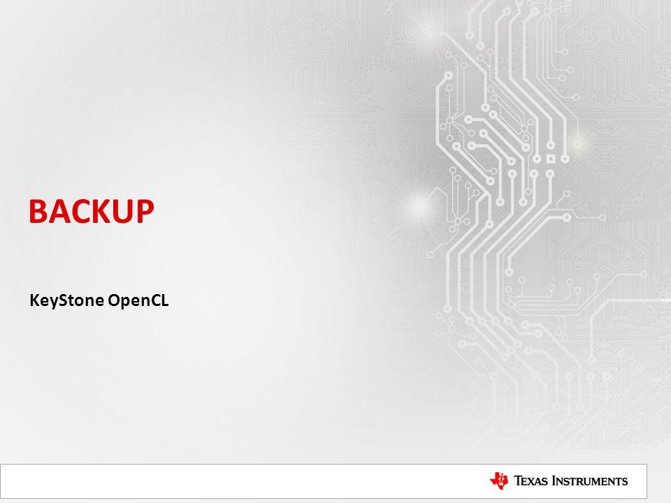 BACKUP KeyStone OpenCL