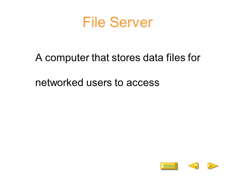 home Two Kinds of File Access Read-Only Read/Write
