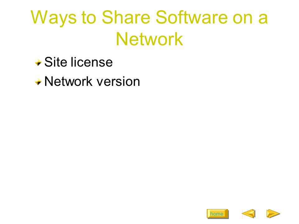 home Examples of NOSs Novell NetWare Microsoft Windows NT Server Microsoft Windows 2000 Microsoft XP Microsoft.NET Server Linux