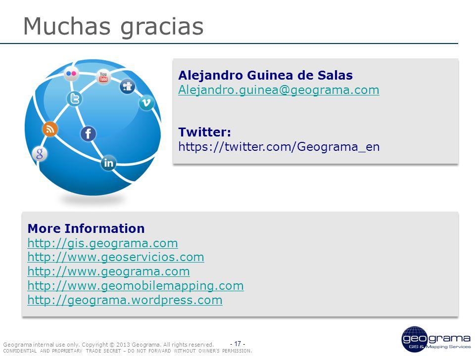 Geograma internal use only. Copyright © 2013 Geograma.