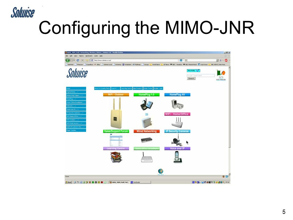 5 Configuring the MIMO-JNR