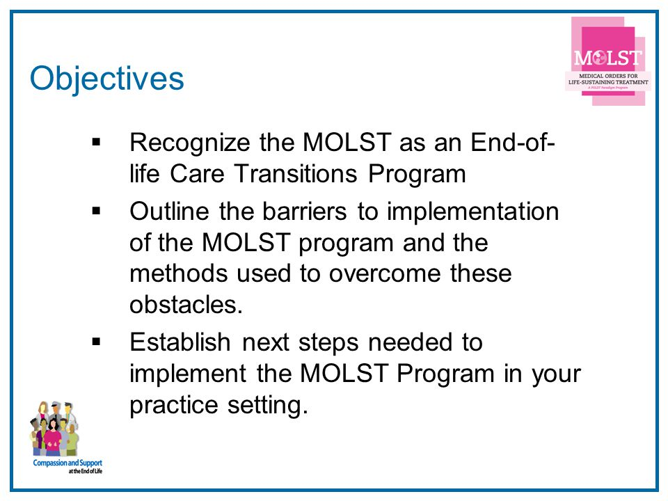 3 LTC Office Hospital Facility Implementation of MOLST