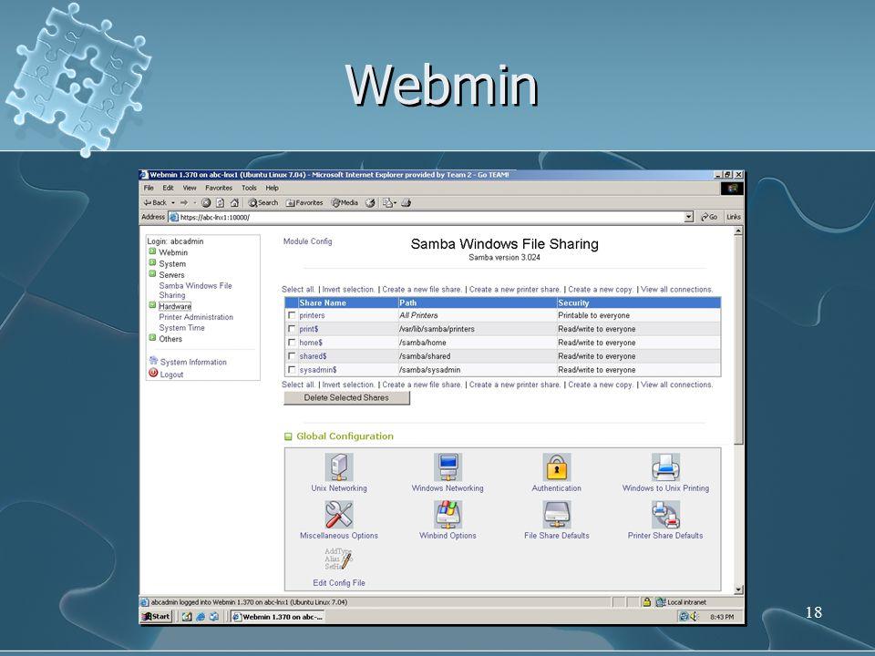Webmin 18