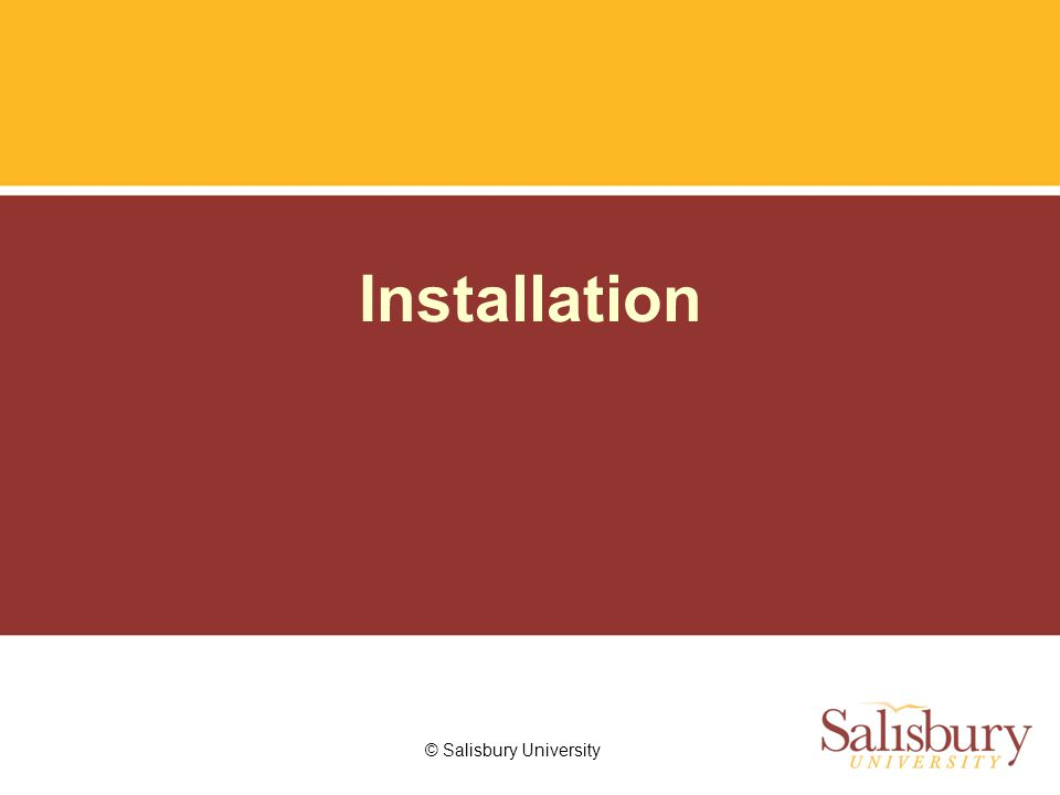 © Salisbury University Installation