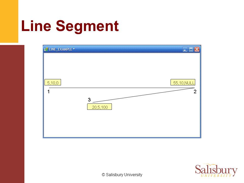 © Salisbury University Line Segment