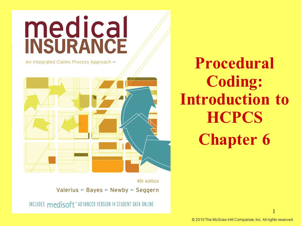 1 Procedural Coding: Introduction to HCPCS Chapter 6 © 2010 The McGraw-Hill Companies, Inc. All rights reserved.
