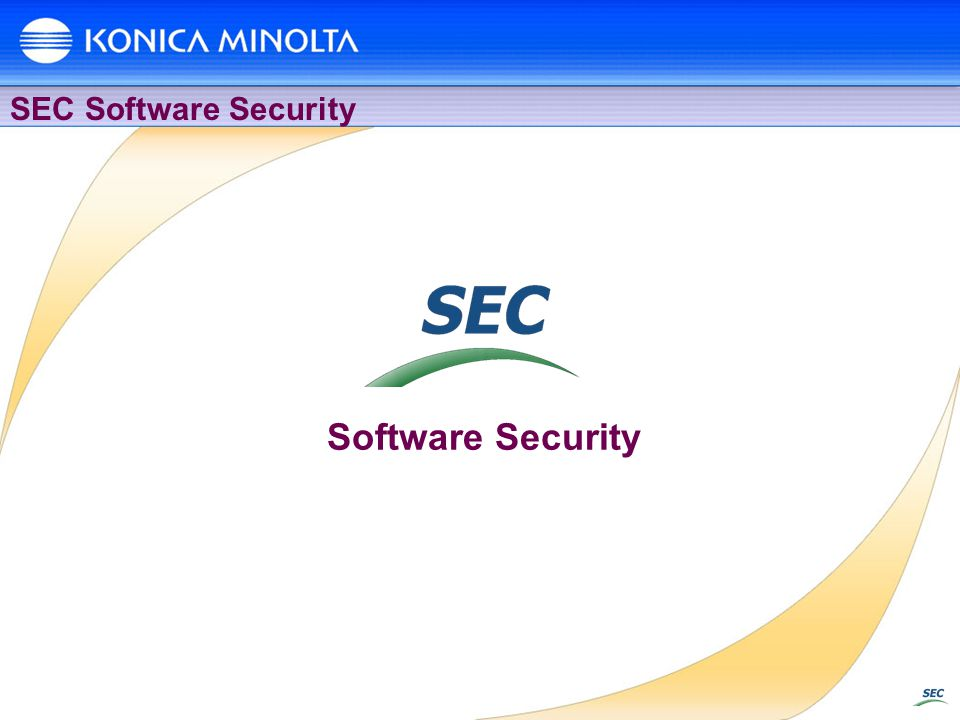 SEC Software Security Software Security
