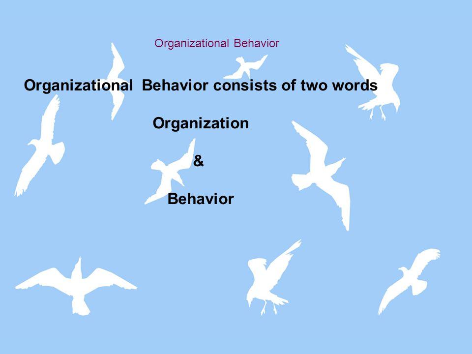 ORGANIZATIONAL BEHAVIOUR-DEFINITION S………………..CONTD According to Keith Davis, Organizational Behavior is an academic discipline concerned with understanding and describing human behavior in an organizational environment.