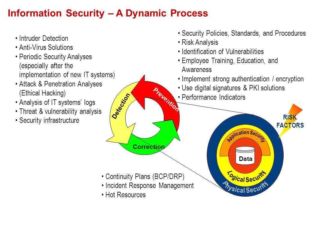 Security Policies, Standards, and Procedures Risk Analysis Identification of Vulnerabilities Employee Training, Education, and Awareness Implement str