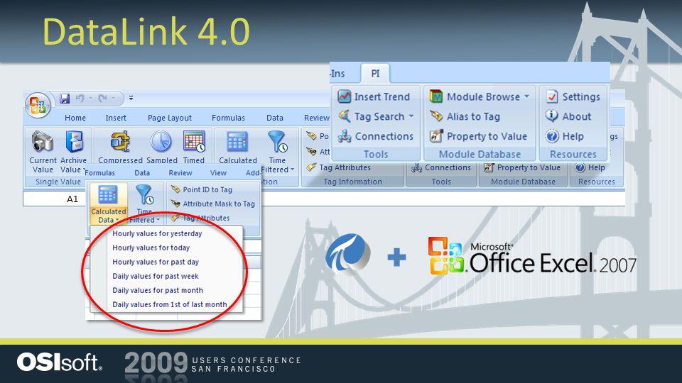 DataLink 4.0 for Excel Services
