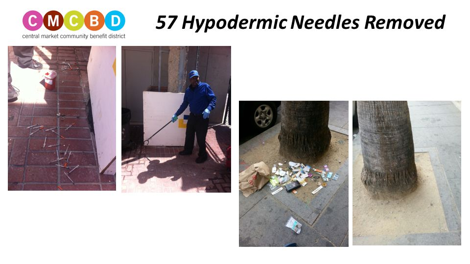 57 Hypodermic Needles Removed
