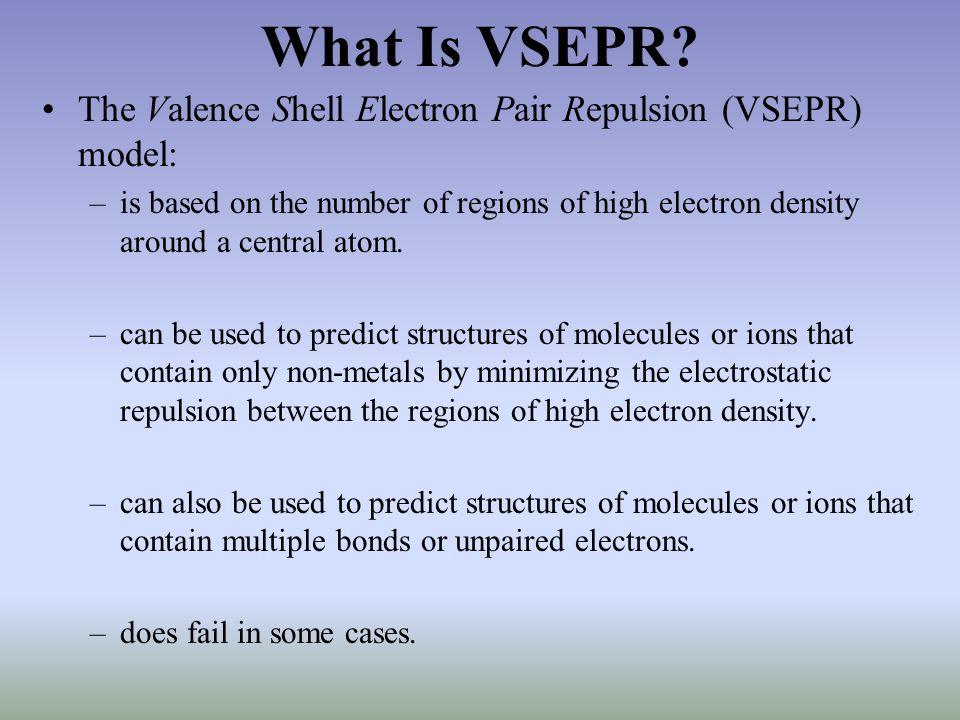What Is VSEPR.
