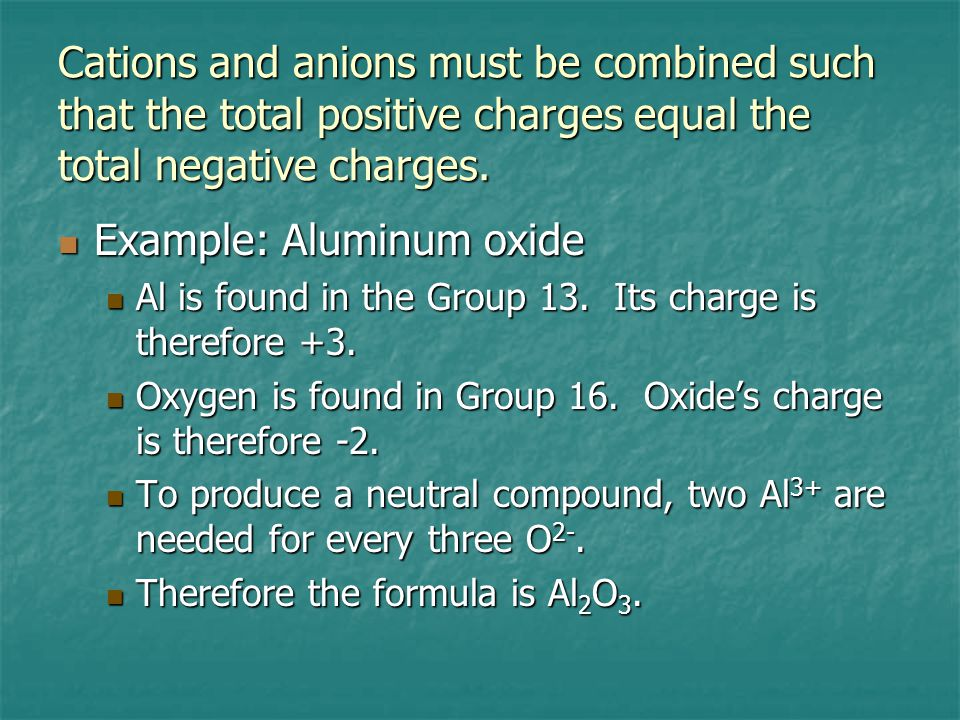 Transition elements can often have more than one charge.